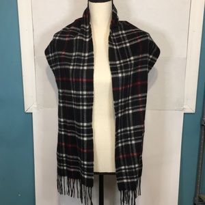 Charter Club 100% Cashmere Plaid Scarf